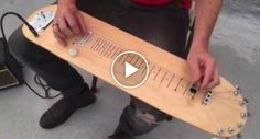 Homem Transforma Skate Em Guitarra e o Som É Incrível!