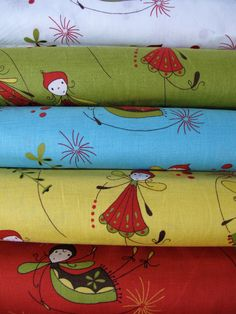 Woodland Cinderberry Fairies Fabric by Natalie Lymer for Lecien