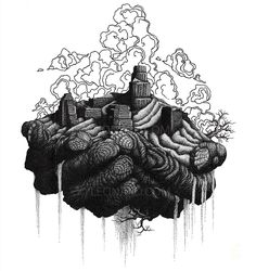 Millions Of Dots Form Intricate Pen Drawings To Raise Environmental Awareness…