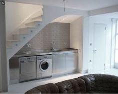 De wasmachine op de zolder wegwerken home decor