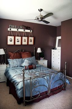 Love The Blue Brown Bedspread Bedrooms Bedroom Decor
