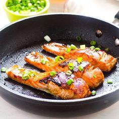 Crispy Honey Garlic Salmon