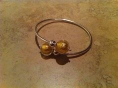 .925 Sterling Silver Murano Glass Bracelet
