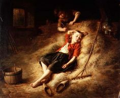 Tickling The Sleeper-Theodore Gerard (1829 – 1895, Belgian)