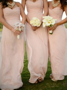 Buy Elegant Sweetheart Floor Length Chiffon Sleeveless Peach Bridesmaid Dress With Ruched Bridesmaid Dresses under US$ 92.99 only in SimpleDress.