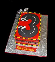 birthday racecar track birthday cake, I'll just make it a Race Car Birthday, Race Car Party, Twin Birthday, Birthday Cakes, Race Track Cake, Race Car Cakes, Car Themed Parties, Cars Birthday Parties, Birthday Ideas
