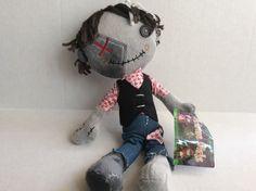 "Grimm Girls 14"" Plush Doll 2013 Goth Zombie"