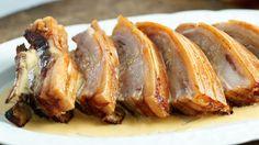 Roast Belly Pork with Cider Cream Sauce