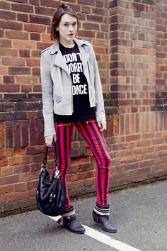 Ella Catliff - Armani Exchange Jacket, Style Stalker Tank, Russell And Bromley Boots, Marc By Jacobs Bag - Rock n' Roll