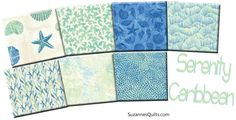 New! Serenity Collection - Caribbean Colorway! Can't you smell the salt air?