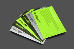 Business cards with neon ink detail for Limelight Sports designed by Studio Blackburn