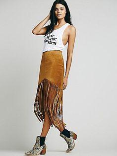 Sedona Leather Skirt