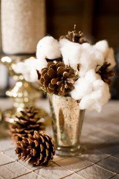 glamorous and cozy winter wedding table decor