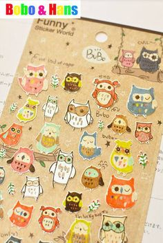Aliexpress.com : Buy New 1 pcs/set funny owl paper sticker / Decoration label / Multifunction / Wholesale from Reliable paper sticker suppliers on Bobo & Hans $23.20