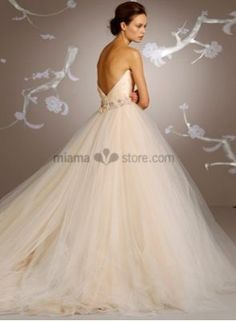 MILANA - A-line Sweetheart Chapel train Satin Wedding dress