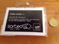 Hipp Small Index Cards 12 Pack