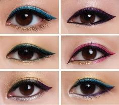If you love to play with color, use different colored eyeliners on top and bottom. | If you love to play with color, use different colored eyeliners on top and bottom.