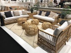 Cane and rattan outdoor furniture Rattan Outdoor Furniture, Outdoor Sofa, Outdoor Decor, Cane Furniture, Furniture Design, Contract Furniture, Cologne, Home Decor, Decoration Home