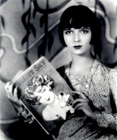Louise Brooks, an American dancer and actress (noted for popularizing the bobbed haircut); best known as the lead in three feature films made in Europe, including two G. W. Pabst films: Pandora's Box (1929), Diary of a Lost Girl (1929), and Prix de Beauté (Miss Europe, 1930).