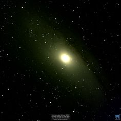 Andromeda Galaxy (M31) imaged using SLOOH's Canary Islands 2 High Mag on Jun 22nd, 2016 at 03:15:49 UTC The Milky Way and the Andromeda Galaxy are hurtling towards each other at an astounding 249,791 miles per hour! They are destined to collide in around 3.75 billion years and are likely to merge into one gigantic elliptical galaxy.