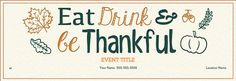 Happy Thanksgiving from our family to yours! Treat your loved ones to a special Thanksgiving Day. Our new line of handcrafted Thanksgiving invitations make hosting easy. Plan a Thanksgiving feast, potluck, or gratitude dinner, go to the parade, watch the football game together, grab drinks the night before, or reunite with friends for Friendsgiving. Evite has fall-themed designs for all your Thanksgiving weekend activities and more.