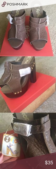Floggs Brown Platform Heels **Brand New** Brand new*** Floggs size 9 brown leather platform mules Shoes Mules & Clogs