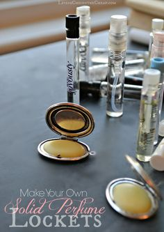 Make Your Own Solid Perfume Lockets