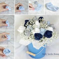 Baby Socks Flower Bouquet - and yet another great presentation method.
