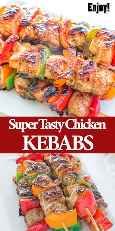 grilling recipes Very tender and so flavorful, these Easy Chicken Kebabs are MUST TRY this summer! This is my go-to kebab recipe. Cooktoria for more deliciousness! Easy Summer Meals, Summer Recipes, Easy Meals, Healthy Summer, Grilled Chicken Recipes, Easy Chicken Recipes, Easy Grill Recipes, Recipes For The Grill, Weber Grill Recipes