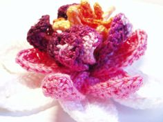 Crochet+Patterns | Pink Waterlily Crochet Pattern