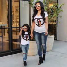25 Lovely Mommy And Daughter Outfits Mom Daughter Matching Outfits, Mommy And Me Outfits, Cute Outfits For Kids, Mother Daughter Photos, Mother Daughter Fashion, Twin Outfits, Girl Outfits, Cute Baby Clothes, Kids Fashion