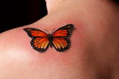 Monarch butterfly by Gabe Tenneson of Transformation Gallery and Tattoo