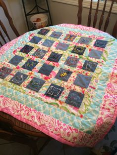 Quilt I made for baby Everly, July 2014