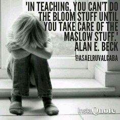 Maslow Then Bloom – Physiological Needs Must Be Met Before Learning Can Occur! Teaching Quotes, Teaching Tips, Education Quotes, Creative Teaching, Student Teaching, Teacher Memes, Teacher Stuff, Teacher Interviews, Teacher Inspiration