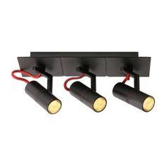 Titto 3 Bulb Spotlight in Black