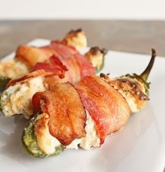 Bacon Wrapped Stuffed Jalapenos - I Breathe... I'm Hungry...