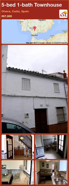 Townhouse for Sale in Olvera, Cadiz, Spain with 5 bedrooms, 1 bathroom - A Spanish Life Cadiz Spain, Cosy Lounge, Back Doors, Entrance Hall, Finding A House, Stunning View, Townhouse, Bathroom, Bed