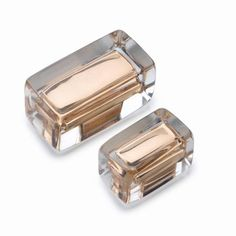 Sensational oblong blend of rose gold radiance and translucency which captures the glamour of Italian 1950's design.