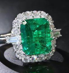 Impressive Colombian emerald and diamond ring. Coming up this Spring at Dupuis. Gold Diamond Earrings, Diamond Bracelets, Ankle Bracelets, Sterling Silver Bracelets, Silver Earrings, Emerald Jewelry, Silver Jewelry, Emerald Rings, Silver Ring