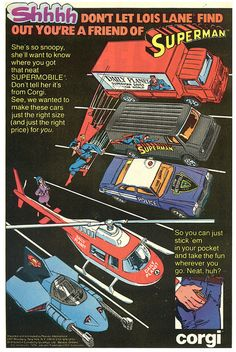 Corgi DC Superheroes die-cast cars from 1980 by Paxton Holley, via Flickr