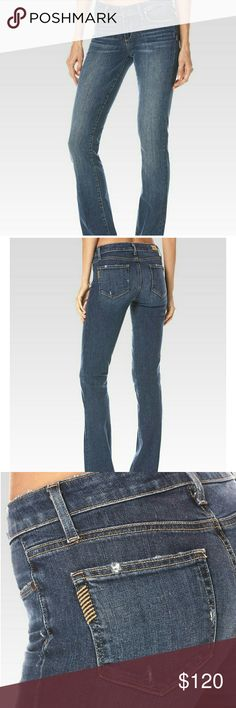 🌼paige denim pants PAIGE's super slim boot cut jean incorporates our TRANSCEND VINTAGE fabric with good stretch and authentic character. Meticulously destructed with a distressed hem and waistband, the whiskered style also possesses a flawless dark vintage wash for the right amount of laid-back flair. Like new Paige Jeans Pants Boot Cut & Flare
