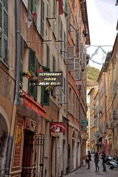Streets of old town in Nice, Cote d'Azur, France