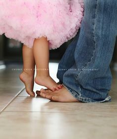 I will be taking a picture of our little girl & her daddy like this for her wedding day. So cute
