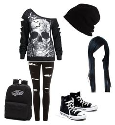 """""""Emo trash"""" by lizzyking on Polyvore featuring Topshop, Madewell, Vans and SCHA"""