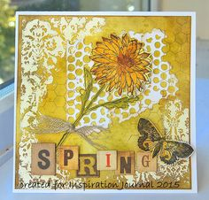 Kath's Blog......diary of the everyday life of a crafter: Spring Is In The Air... with a card using Tim Holtz, Ranger, Idea-ology, Sizzix and Stamper's Anonymous products; Mar 2015