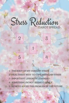 Tarot card Spread: Stress Reduction #studytarot Oracle Cards Divination Layout #learningtarotcards
