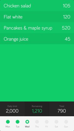 clean mobile #ui #mobile #green