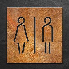 Signage Board, Wayfinding Signage, Signage Design, Stone Interior, Cafe Interior Design, Washroom Sign, Toilet Signage, Wc Sign, Plasma Cutter Art