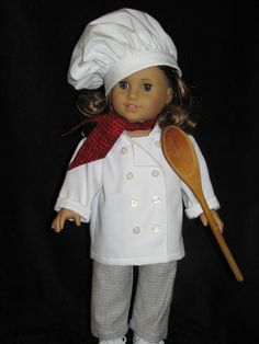 Cooking up something wonderful - Doll Clothes By Shirley SOLD