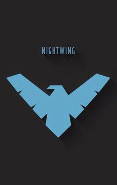 Logo Super Heros, Nightwing Wallpaper, Cultura Nerd, Dog Logo Design, Hero Logo, Flash Wallpaper, Western Comics, Avengers, Dc Memes